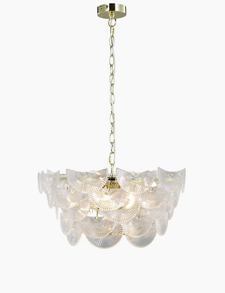 Art Deco Glass Chandelier