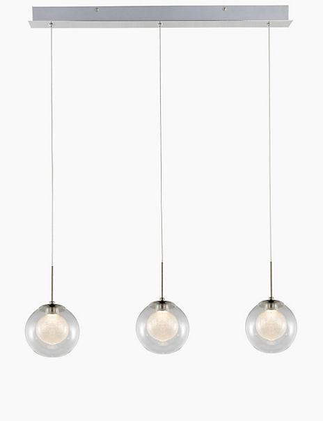 3 Dual Glass Orbs - Bar Light
