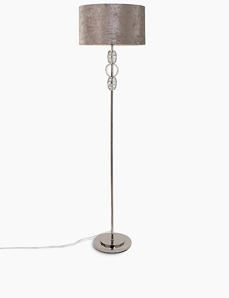 Faceted Glass Ring Floor Lamp