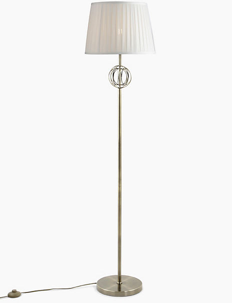 Small Antique Brass Floor Lamp