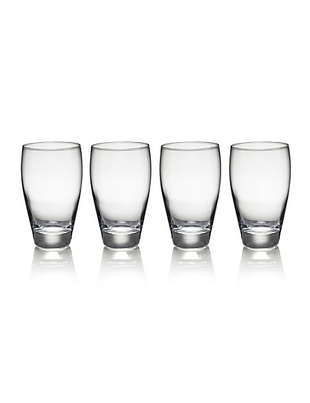 4 Fiore Hi Ball Glasses