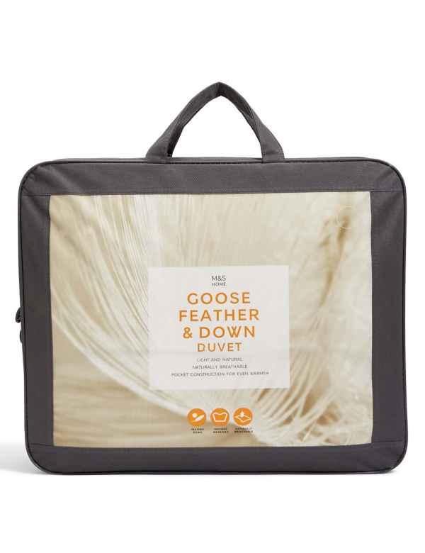 p60291463: Goose Feather & Down 10.5 Tog Duvet