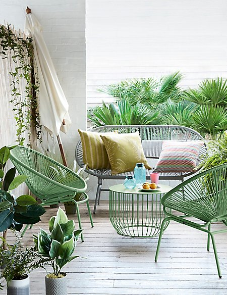 Striped Outdoor Water Resistant Cushion