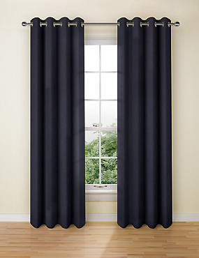 Pure Linen Eyelet Curtains