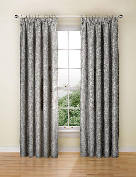 Paisley Jacquard Pencil Pleat Curtains