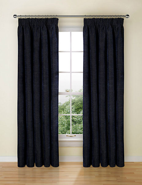 Jacquard Pencil Pleat Curtains
