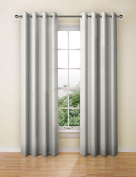Lustre Jacquard Eyelet Curtains