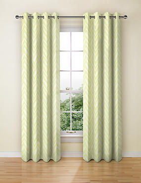 Crescent Chevron Eyelet Curtains