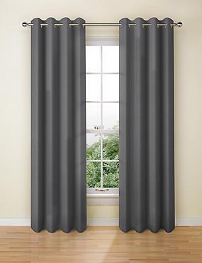 Banbury Weave Eyelet Curtains