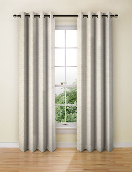 Multi Weave Eyelet Curtains