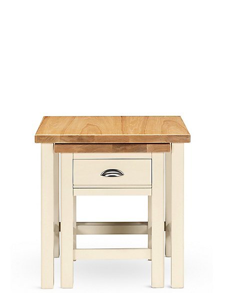 Padstow Nest Tables Cream