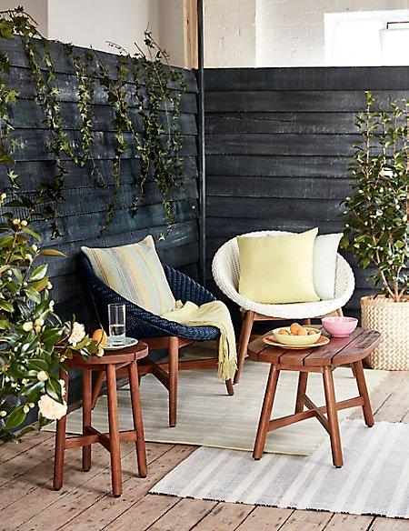 Capri Teak Chair - White