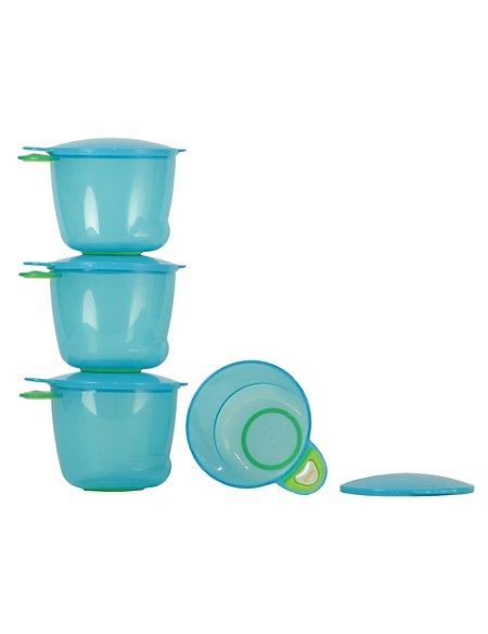 4 Prep & Go Food Pots