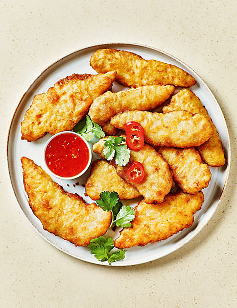 Made without Wheat Tempura Chicken Tenders with Sweet Chilli Sauce (Serves 4)