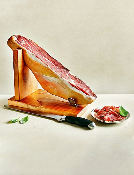 Serrano Ham Joint with Knife & Stand (Approx. 50 Slices)