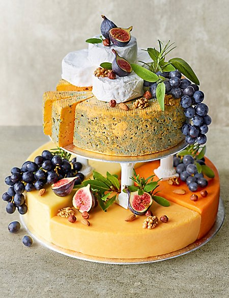 stacking fruit wedding cakes cheese celebration cake serves 90 120 m amp s 20474