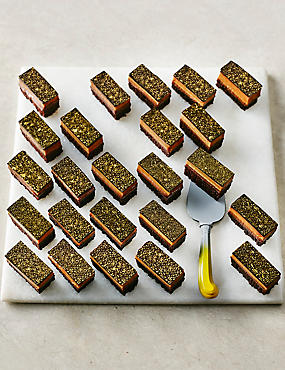 Mini Salted Caramel Brownie Slices - 24 Pieces