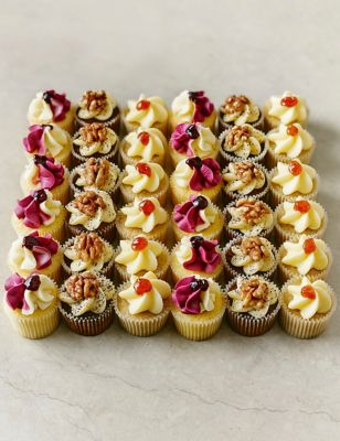 mini afternoon tea cupcakes 36 pieces m s. Black Bedroom Furniture Sets. Home Design Ideas