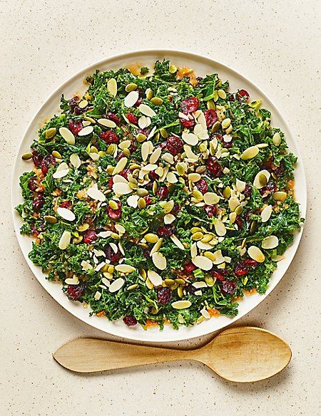 From The Deli Shredded Kale & Cranberry Salad with an Orange & Ginger Dressing (Serves 6)