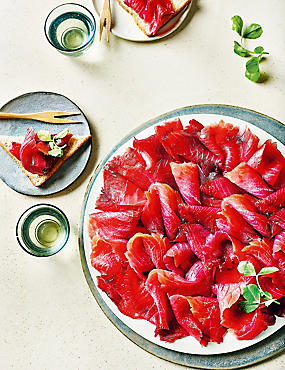 From The Deli Scottish Lochmuir™ Smoked Salmon with a Beetroot Marinade (Approx. 10 Slices)