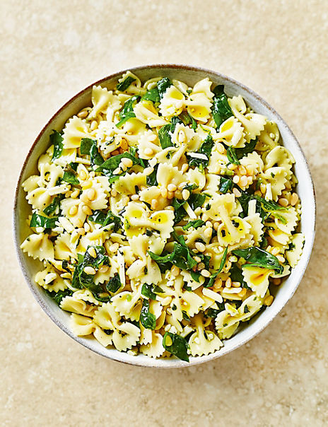 Pasta Salad with Spinach & Pine Kernels (Serves 6-8)