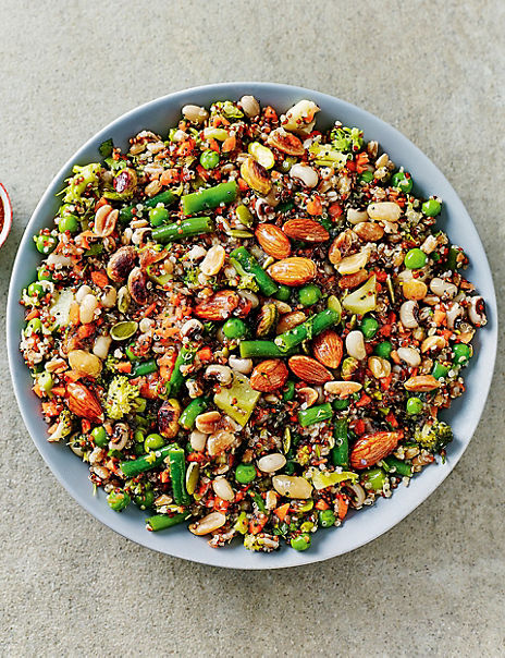 Super Nutty Wholefood Salad (Serves 6-8)
