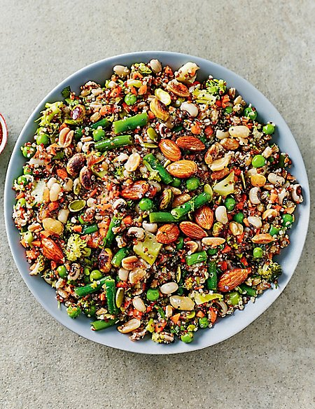 Super Nutty Wholefood Salad (Serves 6-8)