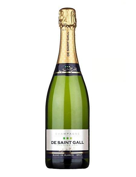 De Saint Gall Blanc de Blancs Premier Cru Brut Champagne - Case of 6