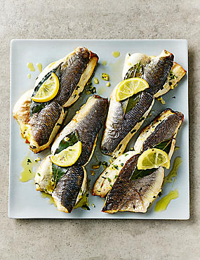 Butterflied Sea Bass (Serves 4)