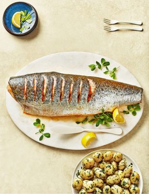 Whole Scottish Salmon (Serves 10 12) by Marks & Spencer