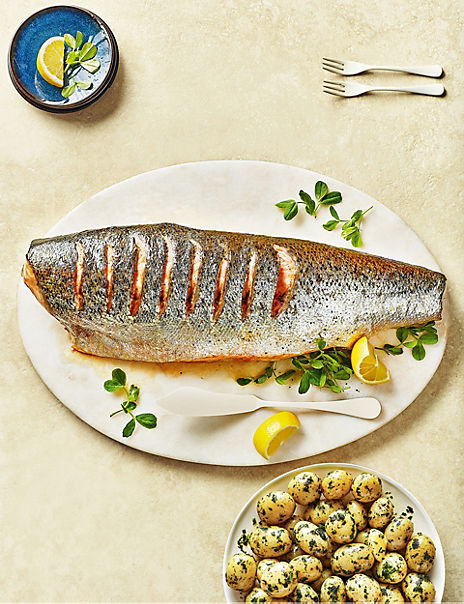 Whole Scottish Salmon (Serves 10-12)