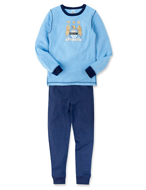 timeless design 0fb64 db3a6 Manchester City Football Club Thermal Top & Trousers Set | M&S