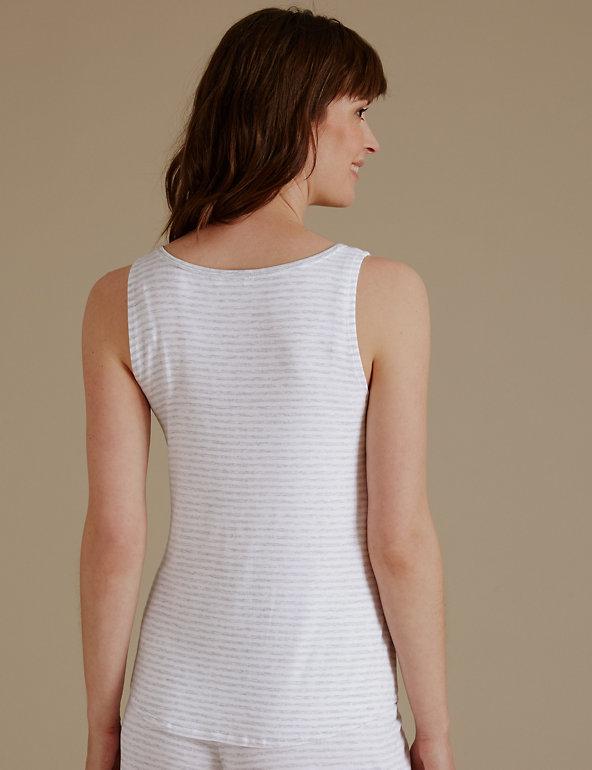 Details about  /M/&S Sleep Size 6 Grey Stripe Maternity Pyjama Vest Cami Top Bnwt