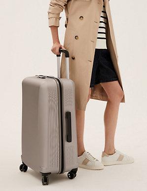 0199ae18043d Medium 4 Wheel Ultralight Hard Suitcase with Security Zip