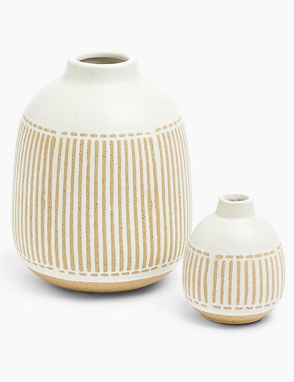 Medium Striped Vase M S