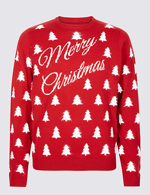 ebaeb775e4c92 Merry Christmas Slogan Jumper | M&S Collection | M&S