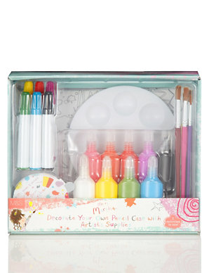 Messy Martha Decorate Your Own Pencil Case With Paints Brushes