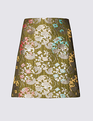 43195e8349 Metallic Effect Jacquard A-Line Mini Skirt | Limited Edition | M&S
