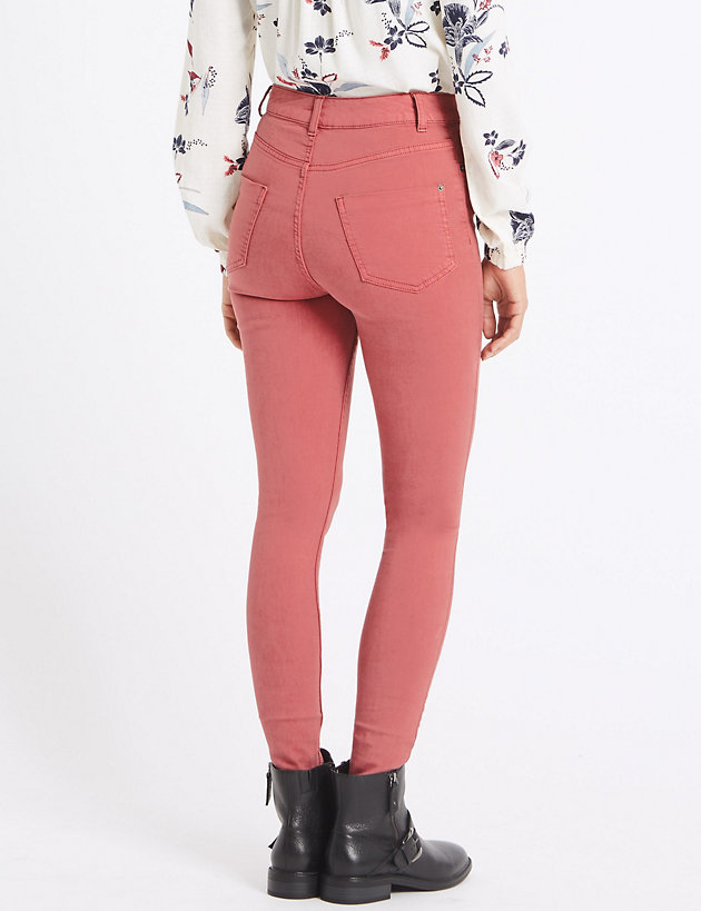 Ex M/&S Marks And Spencer Cotton Rich Coloured Stretchy Jeggings Skinny Jeans