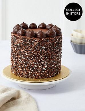 Milk Dark White Chocolate Layers Cake Serves 12