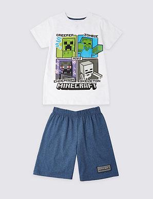 en arrivant bon service comparer les prix Minecraft™ Short Pyjamas (3-16 Years)