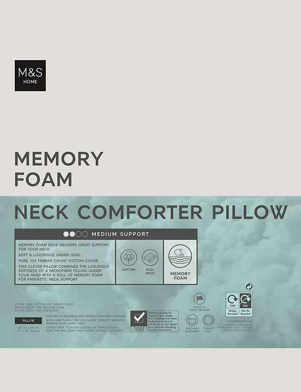 Neck Comforter Memory Foam Pillow | M&S