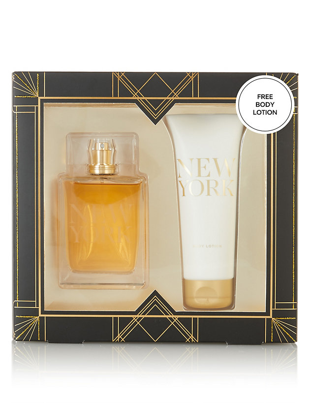 New York Fragrance & Lotion Gift Set | M&S Collection | M&S