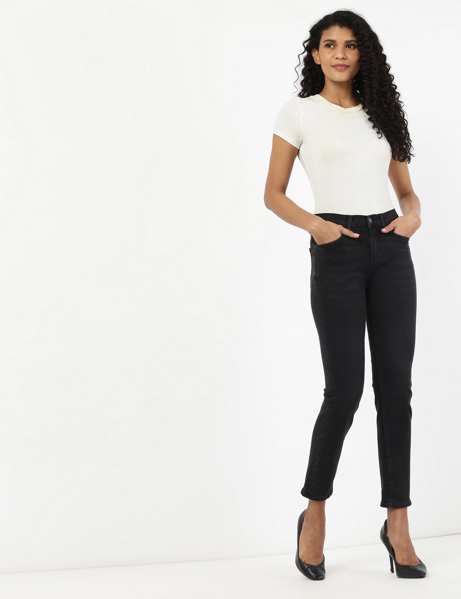 M&S COLLECTION 360 Contour Mid Rise Slim Leg Jeans