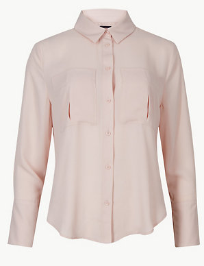 5d02bc35509666 PETITE Long Sleeve Shirt | M&S Collection | M&S