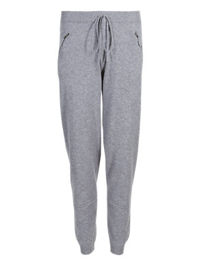 best shoes so cheap choose authentic PETITE Pure Cashmere Cuffed Hem Joggers