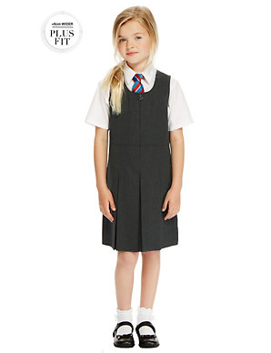 8d5a5daa94 PLUS Girls' Permanent Pleated Pinafore   M&S