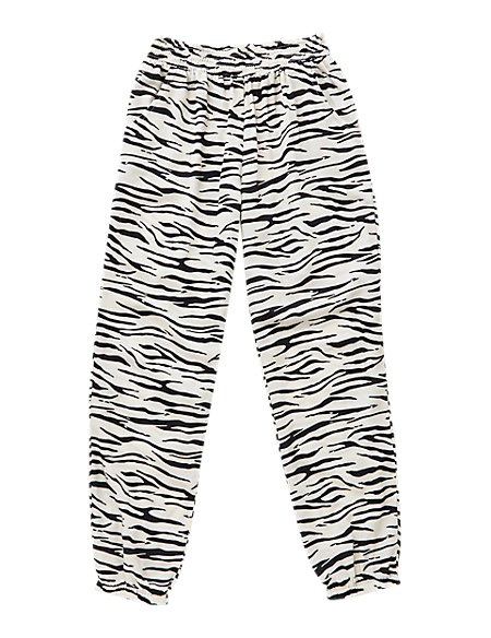 Zebra Print Pull On Trousers with StayNEW™ (5-14 Years)