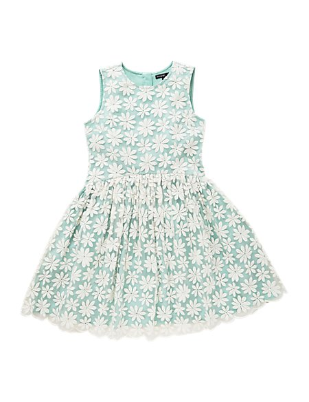 Floral Embroidered Girls Dress (5-14 Years)
