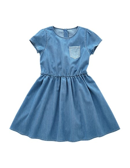 Pure Cotton Denim Dress (5 -14 Years)
